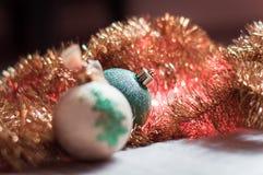 Χριστούγεννα σφαιρών χρυσά Στοκ Φωτογραφίες