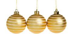 Χριστούγεννα σφαιρών χρυ&sigm Στοκ Εικόνα