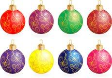 Χριστούγεννα σφαιρών διανυσματική απεικόνιση