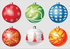 Χριστούγεννα σφαιρών cdr Στοκ Φωτογραφίες
