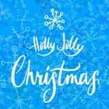 Χριστούγεννα της Holly ευχάριστα calligrapy ελεύθερη απεικόνιση δικαιώματος