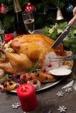 Χριστούγεννα Τουρκία ύφους χάραξης αγροτικά Στοκ Εικόνες