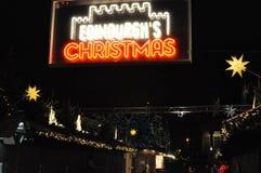 Χριστούγεννα του Εδιμβούργου - η θαυμάσια αγορά Χριστουγέννων Στοκ εικόνες με δικαίωμα ελεύθερης χρήσης