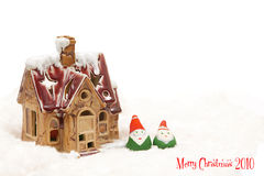 Χριστούγεννα του 2010 εύθυμ& Στοκ εικόνα με δικαίωμα ελεύθερης χρήσης