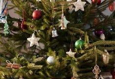 Χριστούγεννα τρία ανασκόπηση Στοκ Εικόνες