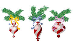 Χριστούγεννα τρία σφαιρών Στοκ Εικόνες
