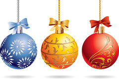 Χριστούγεννα τρία σφαιρών Στοκ εικόνα με δικαίωμα ελεύθερης χρήσης