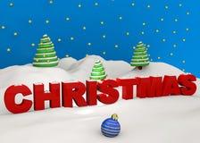 Χριστούγεννα - τρισδιάστατα Στοκ φωτογραφία με δικαίωμα ελεύθερης χρήσης