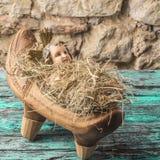 Χριστούγεννα χαιρετισμού του Ιησού μωρών Στοκ Εικόνες