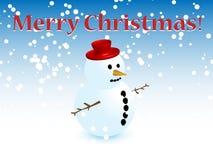 Χριστούγεννα χιονανθρώπων ελεύθερη απεικόνιση δικαιώματος