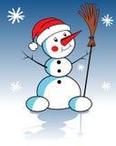 Χριστούγεννα χιονανθρώπω& ελεύθερη απεικόνιση δικαιώματος