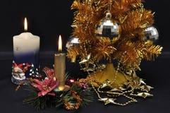 Χριστούγεννα χρυσά στοκ φωτογραφίες