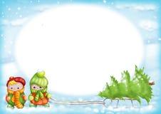 Χριστούγεννα 05 καρτών διανυσματική απεικόνιση