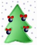 Χριστούγεννα 2 δέντρων Στοκ Φωτογραφία