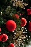 Χριστούγεννα 2 σφαιρών Στοκ Φωτογραφίες