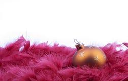 Χριστούγεννα 2 σφαιρών στοκ εικόνες