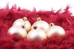 Χριστούγεννα 2 σφαιρών στοκ φωτογραφία