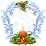 Χριστούγεννα 3 καρτών που χ Στοκ Εικόνες