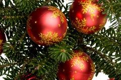 Χριστούγεννα 6 σφαιρών Στοκ Φωτογραφίες