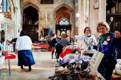Χριστούγεννα Bazaar στην εκκλησία κοινοτήτων Στοκ εικόνα με δικαίωμα ελεύθερης χρήσης