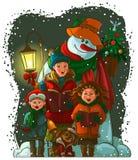 Χριστούγεννα carolers Στοκ φωτογραφία με δικαίωμα ελεύθερης χρήσης