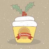 Χριστούγεννα cupcake Στοκ φωτογραφία με δικαίωμα ελεύθερης χρήσης