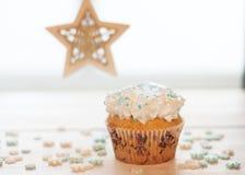 Χριστούγεννα cupcake στοκ φωτογραφία