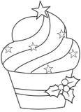 Χριστούγεννα cupcake ελεύθερη απεικόνιση δικαιώματος