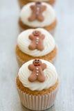 Χριστούγεννα cupcakes Στοκ Φωτογραφίες