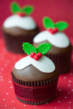 Χριστούγεννα cupcakes Στοκ Εικόνα