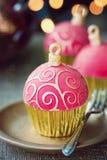 Χριστούγεννα cupcakes Στοκ φωτογραφίες με δικαίωμα ελεύθερης χρήσης