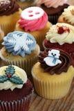 Χριστούγεννα cupcakes στοκ εικόνες