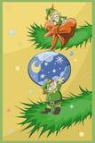 Χριστούγεννα elfs διανυσματική απεικόνιση