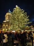 Χριστούγεννα Gendarmenmarkt τη νύχτα Στοκ εικόνα με δικαίωμα ελεύθερης χρήσης