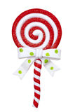 Χριστούγεννα lollipop Στοκ εικόνα με δικαίωμα ελεύθερης χρήσης