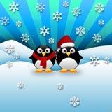 Χριστούγεννα Penguins Στοκ εικόνα με δικαίωμα ελεύθερης χρήσης