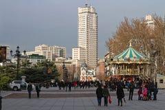 Χριστούγεννα Plaza de Oriente Στοκ φωτογραφία με δικαίωμα ελεύθερης χρήσης