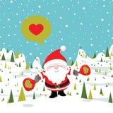 Χριστούγεννα santa Στοκ Εικόνες
