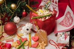 Χριστούγεννα Shnauzer Στοκ Εικόνες