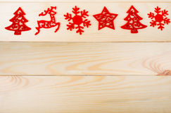 Χριστούγεννα simbols στο ξύλο Στοκ Εικόνες