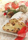 Χριστούγεννα Stollen Στοκ Εικόνες