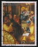 Χριστός μεταξύ των γιατρών από Durer Στοκ Φωτογραφία