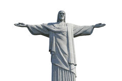 Χριστός ο απελευθερωτής που απομονώνεται στο άσπρο υπόβαθρο στοκ εικόνες με δικαίωμα ελεύθερης χρήσης