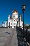 Χριστός ο καθεδρικός ναός λυτρωτών στη Μόσχα Στοκ φωτογραφίες με δικαίωμα ελεύθερης χρήσης