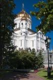 Χριστός ο καθεδρικός ναός λυτρωτών στη Μόσχα Στοκ Φωτογραφία