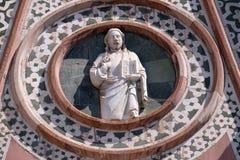 Χριστός που δίνει μια ευλογία, πυίδα του καθεδρικού ναού της Φλωρεντίας Στοκ φωτογραφία με δικαίωμα ελεύθερης χρήσης