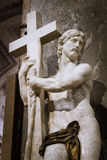 Χριστός που φέρνει το σταυρό Στοκ Εικόνες