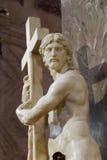 Χριστός που φέρνει το σταυρό Στοκ φωτογραφία με δικαίωμα ελεύθερης χρήσης
