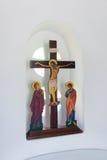 Χριστός στα διαγώνια, ελληνικά ορθόδοξα εικονίδια Στοκ φωτογραφία με δικαίωμα ελεύθερης χρήσης