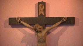 Χριστός στα crosss απόθεμα βίντεο
